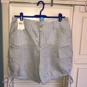 Banana republic heritage cargo shorts stripe linen